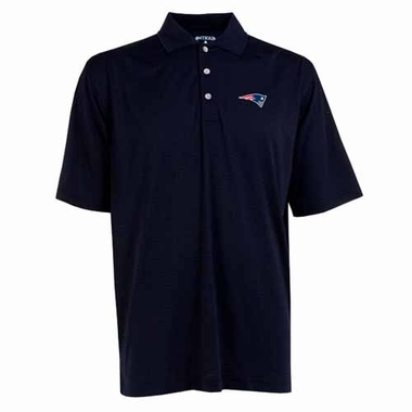 New England Patriots Mens Phoenix Waffle Weave Polo (Team Color: Navy)