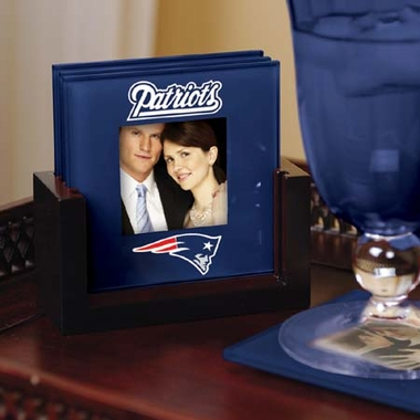 New England Patriots Photo Coaster Set