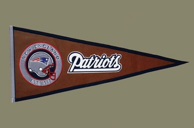 New England Patriots Pigskin Pennant