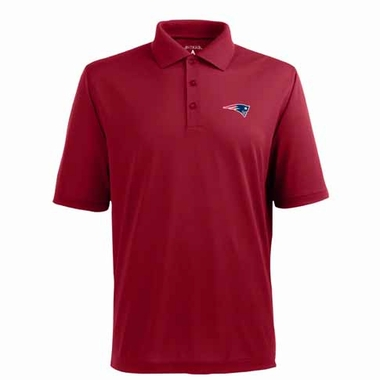 New England Patriots Mens Pique Xtra Lite Polo Shirt (Alternate Color: Red)