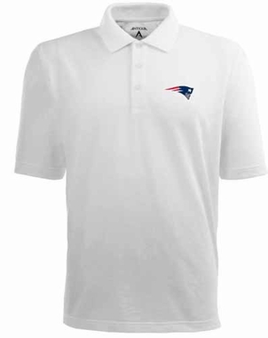 New England Patriots Mens Pique Xtra Lite Polo Shirt (Color: White)