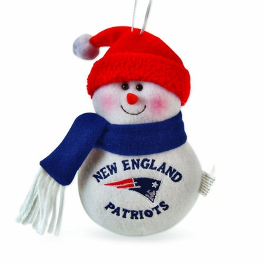 New England Patriots Plush Snowman Ornament (Set of 3)
