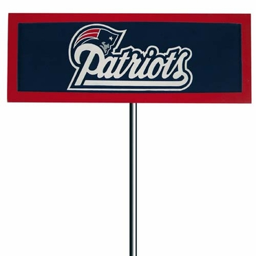 New England Patriots Resin Garden Sign With Stake
