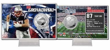 New England Patriots Rob Gronkowski Silver Coin Card
