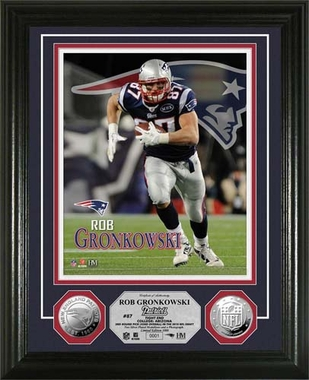 New England Patriots Rob Gronkowski Silver Coin Photo Mint
