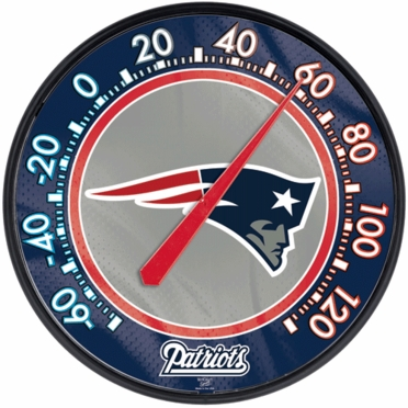 New England Patriots Round Wall Thermometer
