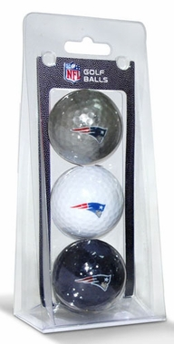 New England Patriots Set of 3 Multicolor Golf Balls