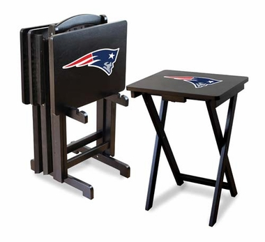 New England Patriots Set of 4 Folding TV Trays