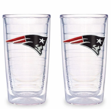 New England Patriots Set of TWO 16 oz. Tervis Tumblers