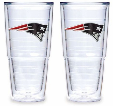 "New England Patriots Set of TWO 24 oz. ""Big T"" Tervis Tumblers"