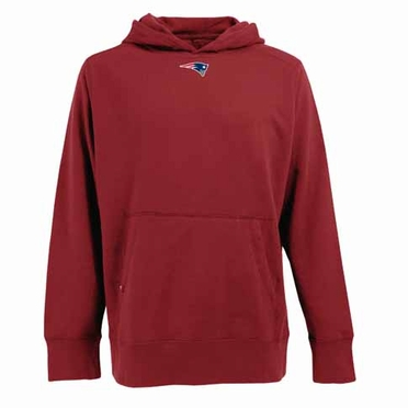 New England Patriots Mens Signature Hooded Sweatshirt (Alternate Color: Red)