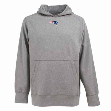 New England Patriots Mens Signature Hooded Sweatshirt (Color: Gray)