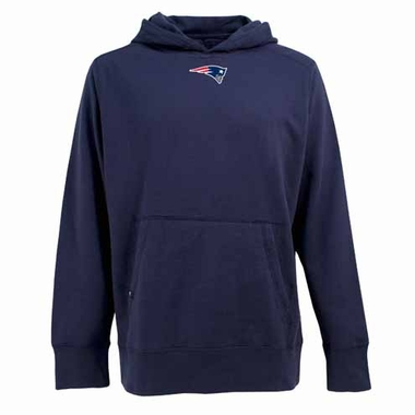 New England Patriots Mens Signature Hooded Sweatshirt (Color: Navy)