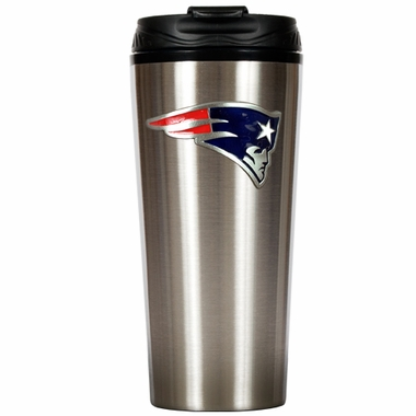 New England Patriots Slim Stainless Steel Travel Tumbler