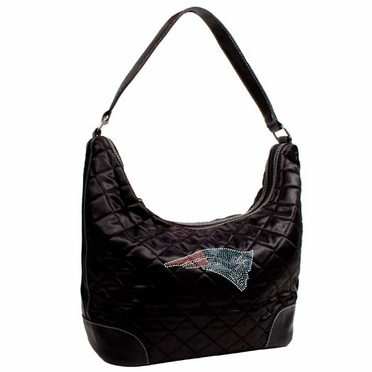 New England Patriots Sport Noir Quilted Hobo