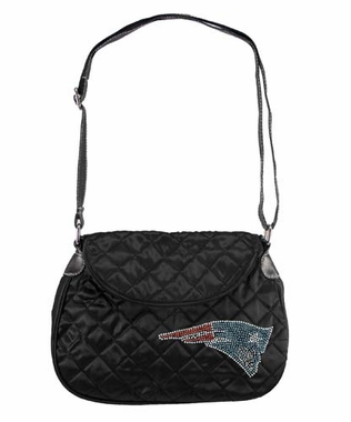 New England Patriots Sport Noir Quilted Saddlebag