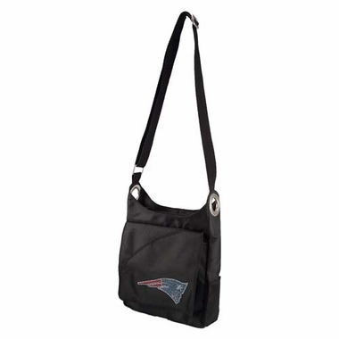 New England Patriots Sport Noir Sheen Crossbody Bag