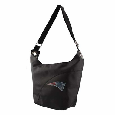 New England Patriots Sport Noir Sheen Hobo Purse