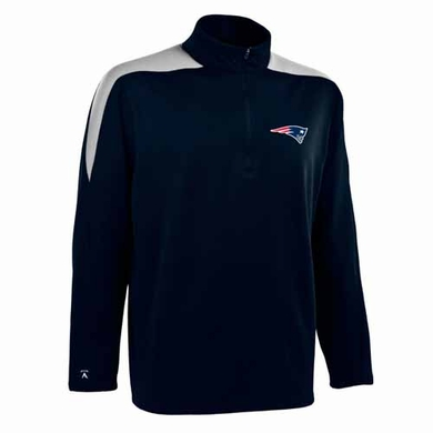 New England Patriots Mens Succeed 1/4 Zip Performance Pullover (Color: Smoke)
