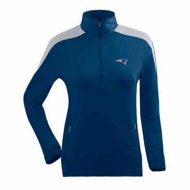 New England Patriots Womens Succeed 1/4 Zip Performance Pullover (Team Color: Navy)