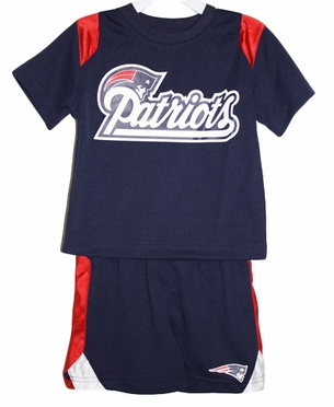 New England Patriots Toddler NFL Mesh Crew Shirt & Shorts Set