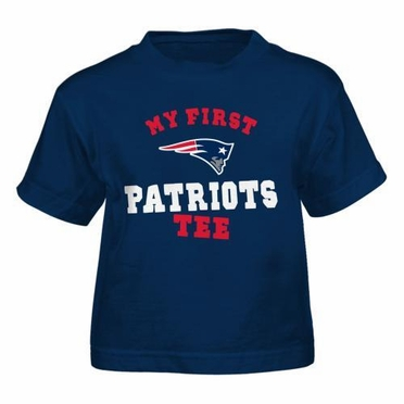 "New England Patriots Toddler NFL ""My First Patriots"" Tee T-Shirt"