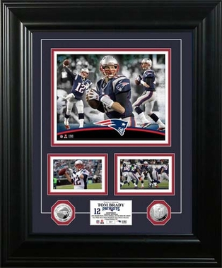 "New England Patriots Tom Brady ""Marquee"" Silver Coin Photo Mint"