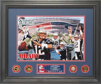 New England Patriots Tom Brady �NFL Greats Special Edition� 24KT Gold Coin Photo Mint