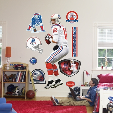 New England Patriots Tom Brady (Throwback) Fathead Wall Graphic