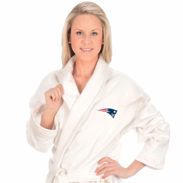 New England Patriots UNISEX Bath Robe (White)