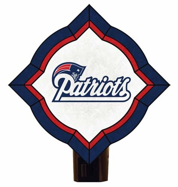 New England Patriots Vintage Art Glass Nightlight