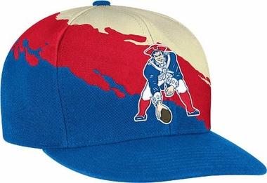 New England Patriots Vintage Paintbrush Snap Back Hat
