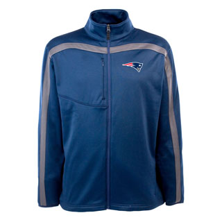 New England Patriots Mens Viper Full Zip Performance Jacket (Team Color: Navy)