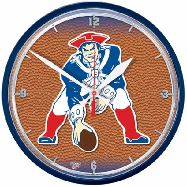 New England Patriots Wall Clock (Throwback)