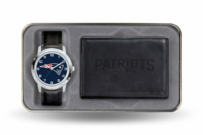 New England Patriots Watch and Wallet Gift Set