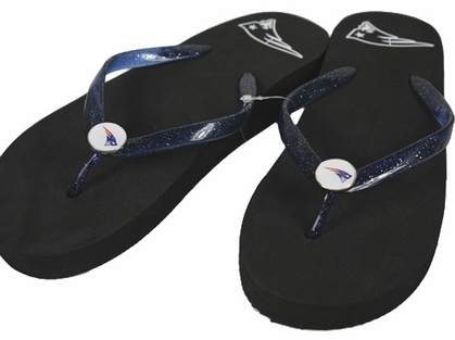 New England Patriots Wedge Flip Flops