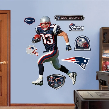 New England Patriots Wes Welker Fathead Wall Graphic
