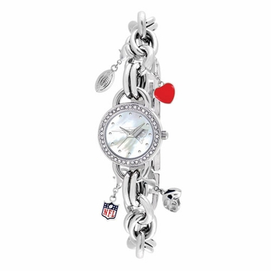 New England Patriots Women's Charm Watch