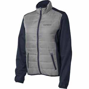 New England Patriots Women's Everest Full Zip Quilted Front Panel Jacket - Small