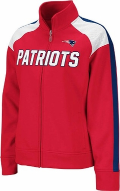 New England Patriots Women's Reebok Bonded Full Zip Track Jacket