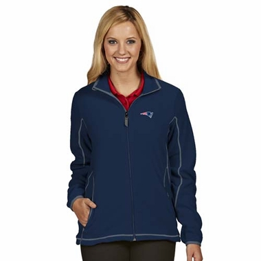 New England Patriots Womens Ice Polar Fleece Jacket (Color: Navy)