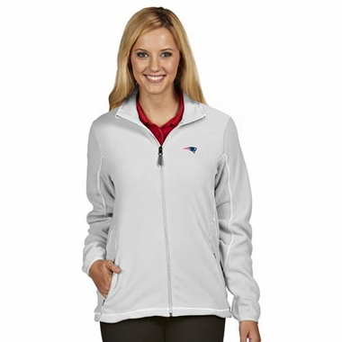New England Patriots Womens Ice Polar Fleece Jacket (Color: White)