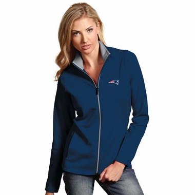 New England Patriots Womens Leader Jacket (Team Color: Navy)