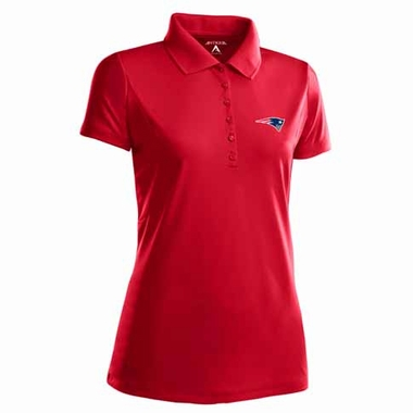 New England Patriots Womens Pique Xtra Lite Polo Shirt (Color: Red)