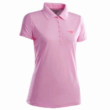 New England Patriots Womens Pique Xtra Lite Polo Shirt (Color: Pink)