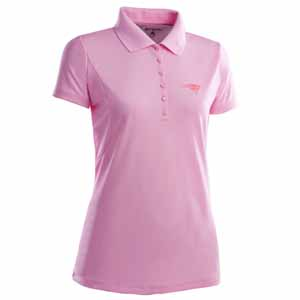 New England Patriots Womens Pique Xtra Lite Polo Shirt (Color: Pink) - Small