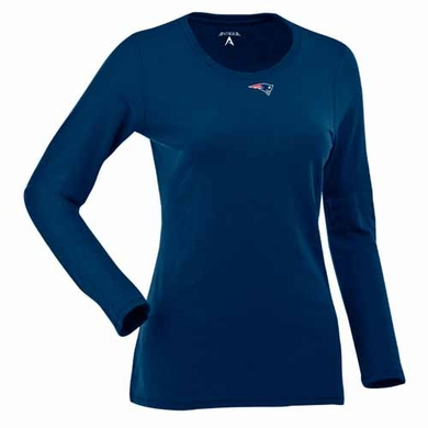 New England Patriots Womens Relax Long Sleeve Tee (Team Color: Navy)