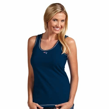 New England Patriots Womens Sport Tank Top (Team Color: Navy)