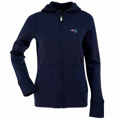 New England Patriots Womens Zip Front Hoody Sweatshirt (Color: Navy)