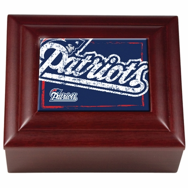 New England Patriots Wooden Keepsake Box